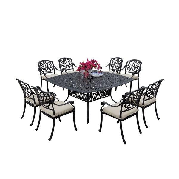 Sierra Madre Cast Aluminum 9 Piece Square Patio Dining Set