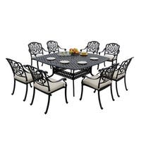 Sierra Madre 9 Piece Square Patio Dining Set - Antique Bronze