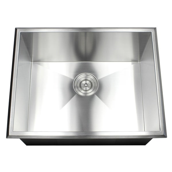 Shop 23-inch 16 Gauge Stainless Steel Single Bowl Topmount Drop-in ...