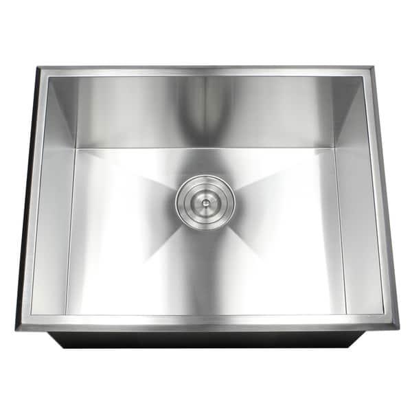 23 Inch 16 Gauge Stainless Steel Single Bowl Topmount Drop In Zero Radius Kitchen Bar Island Laundry Utility Sink On Sale Overstock 19887916