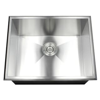 23 Inch 16 Gauge Stainless Steel Single Bowl Topmount Drop In Zero Radius  Kitchen
