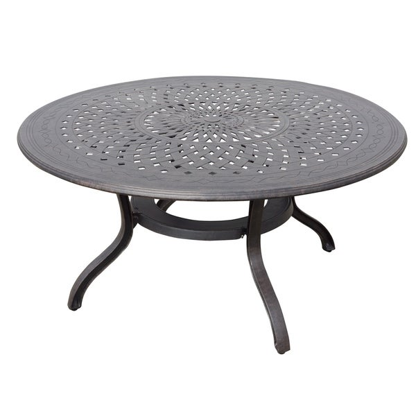 Shop Gracewood Hollow Bannerji Cast Aluminum Inch Round Patio - 60 inch round aluminum patio table