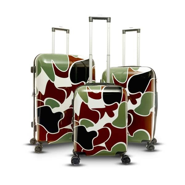 fd0f44c03b5c Shop Gabbiano Camo Collection 3 Piece Hardside Spinner Set - Free ...