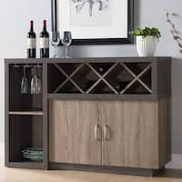 Furniture of America Letty Contemporary Distressed Grey Dining Server