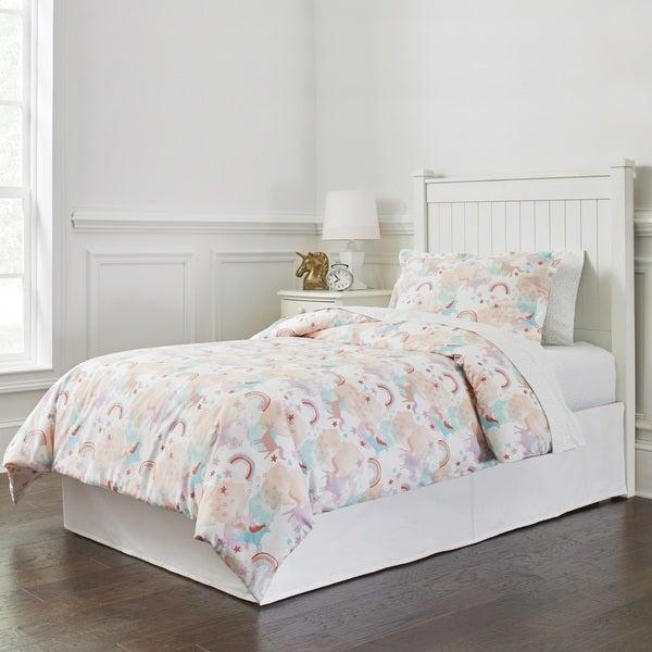 Lullaby Bedding Unicorn Printed Cotton 4-piece Comforter Set