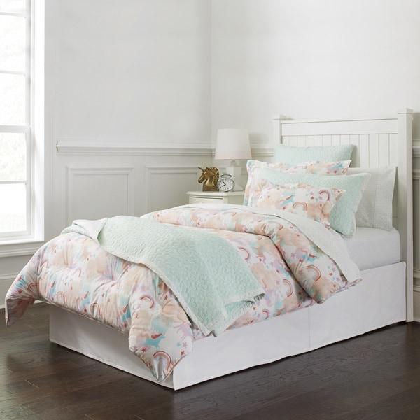 Lullaby Bedding Unicorn Printed Quilt Set