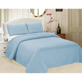 3-piece Bedspread Set with Stamped Ocean Star Pattern