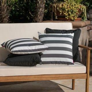 Link to Coronado Outdoor Pillow (Set of 4) by Christopher Knight Home Similar Items in Outdoor Cushions & Pillows