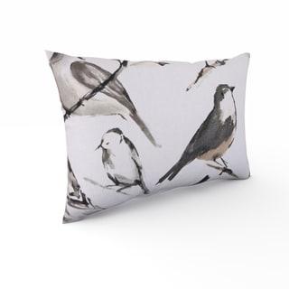 The Gray Barn Windy Oaks Charcoal Bird Throw Pillow