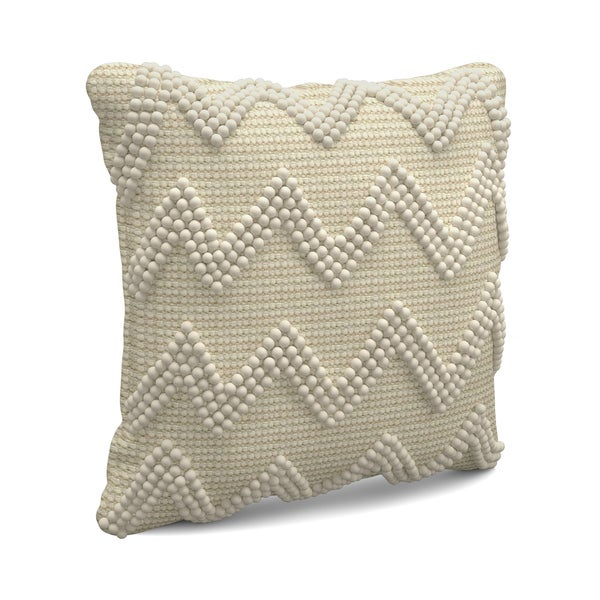 Carbon Loft Baron Large Chevron Ivory Throw Pillow