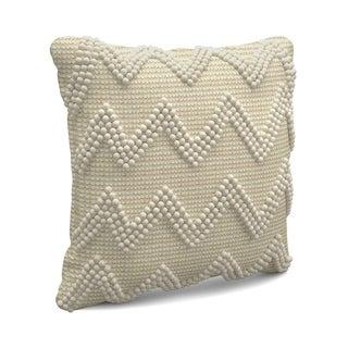 Large Chevron Ivory Throw Pillow