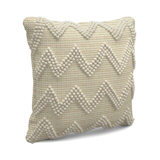 Large Chevron Ivory Throw Pillow