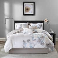 Copper Grove Burwell Watercolor Floral 7-Piece Comforter Set