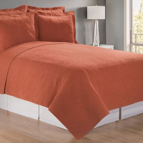 Palm Canyon Marigold Terracotta Matelasse Quilt (Shams Not Included)