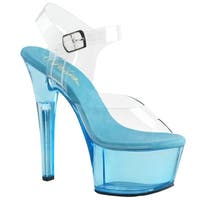 Pleaser Women's Ankle Strap Tinted Platform High Heel Sandals