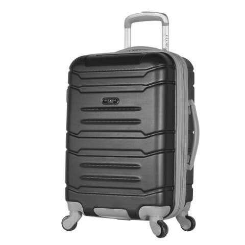 Olympia Denmark 21-inch Carry-on Suitcase Luggage Hardside 4 Wheel Spinner w/Hidden Compartment  Multiple Colors