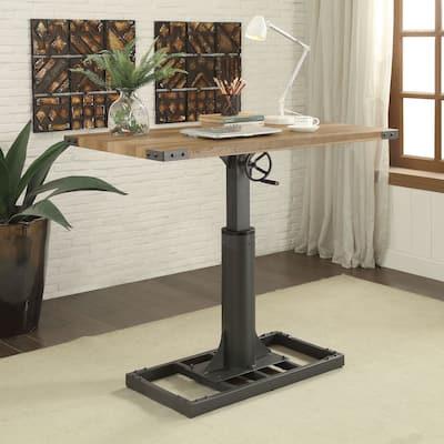 Furniture of America Kic Industrial Black 49-inch Adjustable Desk