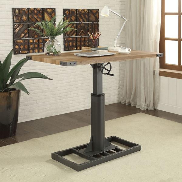 Furniture of America Kic Industrial Black Height Adjustable Desk. Opens flyout.