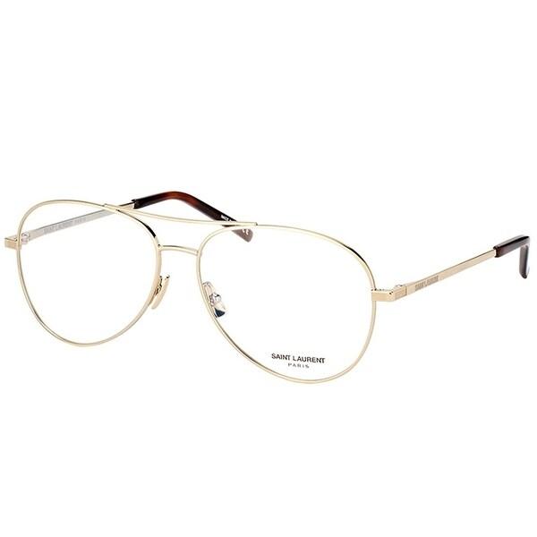 fd1a36268c8c Shop Saint Laurent Aviator SL 153 002 Unisex Gold Frame Eyeglasses ...