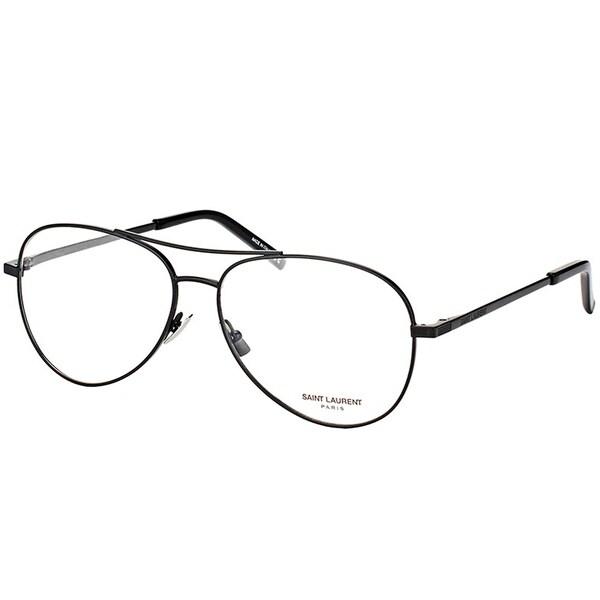 Saint Laurent Aviator SL 153 001 Unisex Black Frame Eyeglasses