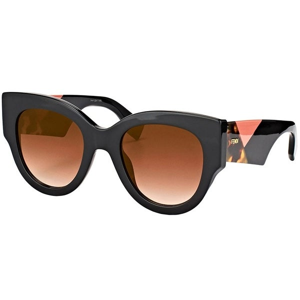 f0682be67919 Shop Fendi Cat-Eye FF 0264 807 Womens Black Frame Brown Mirror Lens  Sunglasses - Free Shipping Today - Overstock - 19892361