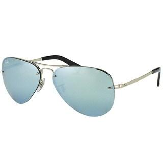 Ray-Ban Aviator RB 3449 003/30 Unisex Silver Frame Silver Mirror Lens Sunglasses