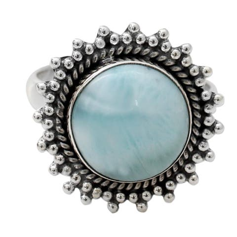 Sterling Silver 'Sea and Sky' Larimar Ring