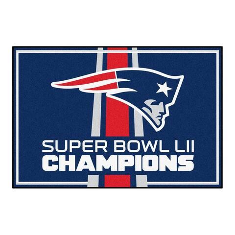 "New England Patriots 5x8 Rug 59.5""x88"""