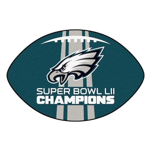 "Philadelphia Eagles Football Mat 20.5""x32.5"""