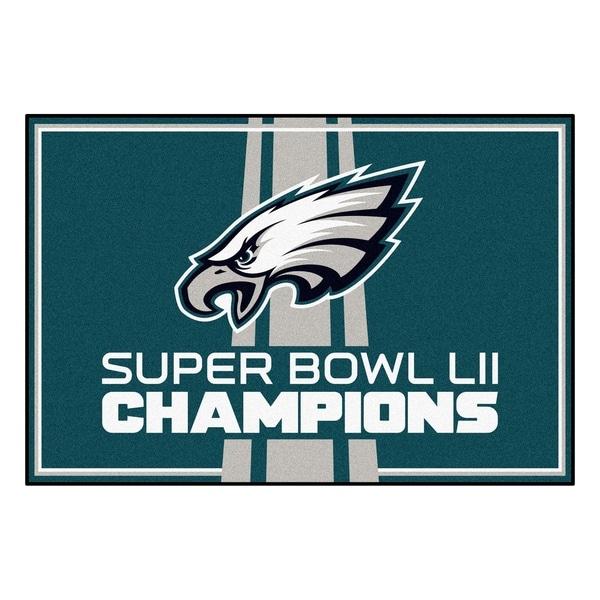 "Philadelphia Eagles 5x8 Rug 59.5""x88"". Opens flyout."