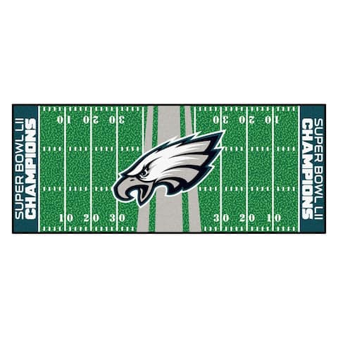 "Philadelphia Eagles Football Field Runner 30""x72"""