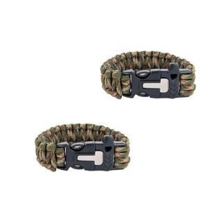 Sport Force Survival Bracelet-2 Pack (More options available)