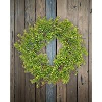 """24"""" Boxwood and twig wreath"""