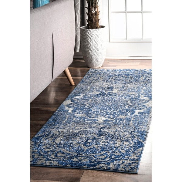 fdfd0001470 Shop nuLOOM Blue Damask Carolina Area Rug - On Sale - Free Shipping ...