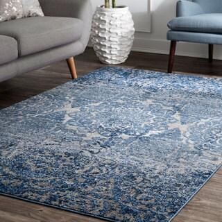 """nuLOOM Damask Carolina Blue Area Rug (5'x7'5) - 5' x 7'5"""""""