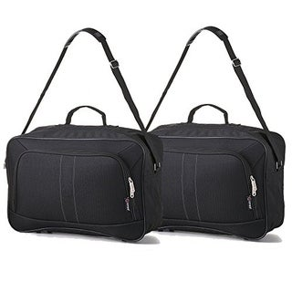 16 Inch 5 Cities Carry On Hand Luggage Flight Duffle Bag, 2nd Bag or Underseat, 19L SET OF 2