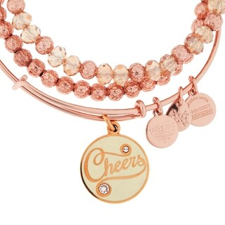 Alex and Ani Cheers 3-pc Bangle Set - Pink