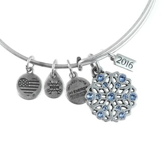 Link to Alex and Ani Snowflake Bangle - Silver Similar Items in Charms & Pins
