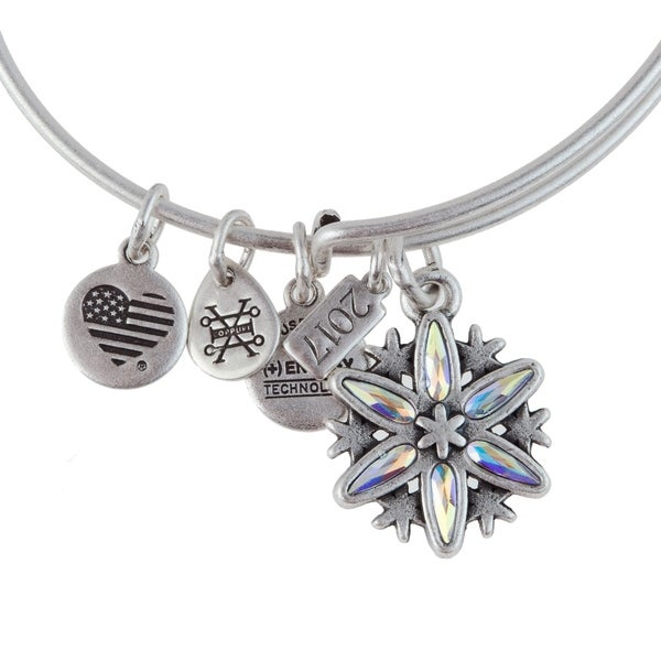 Alex and Ani Black Friday Snowflake Bracelet - Silver