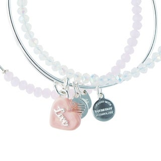 Link to Alex and Ani Sweet Set of Three Bangles - Silver Similar Items in Charms & Pins