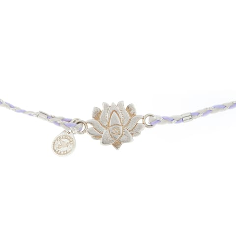 Alex and Ani Lotus Peace Petals Precious Threads Bracelet - Silver