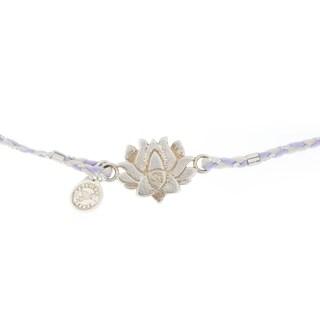 Alex and Ani Lotus Peace Petals Precious Threads Bracelet - Silver