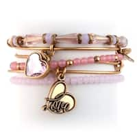 Alex and Ani Alive With Love 5-pc Bangle Set - Pink