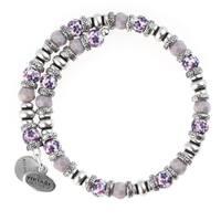 Alex and Ani Floral Wrap Bracelet - Purple