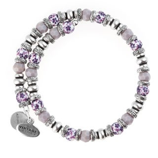 Alex and Ani Floral Wrap Bracelet - Purple