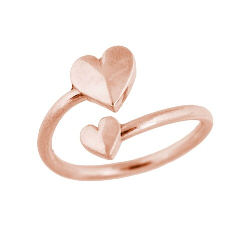 Alex and Ani Heart Wrap Ring - Pink