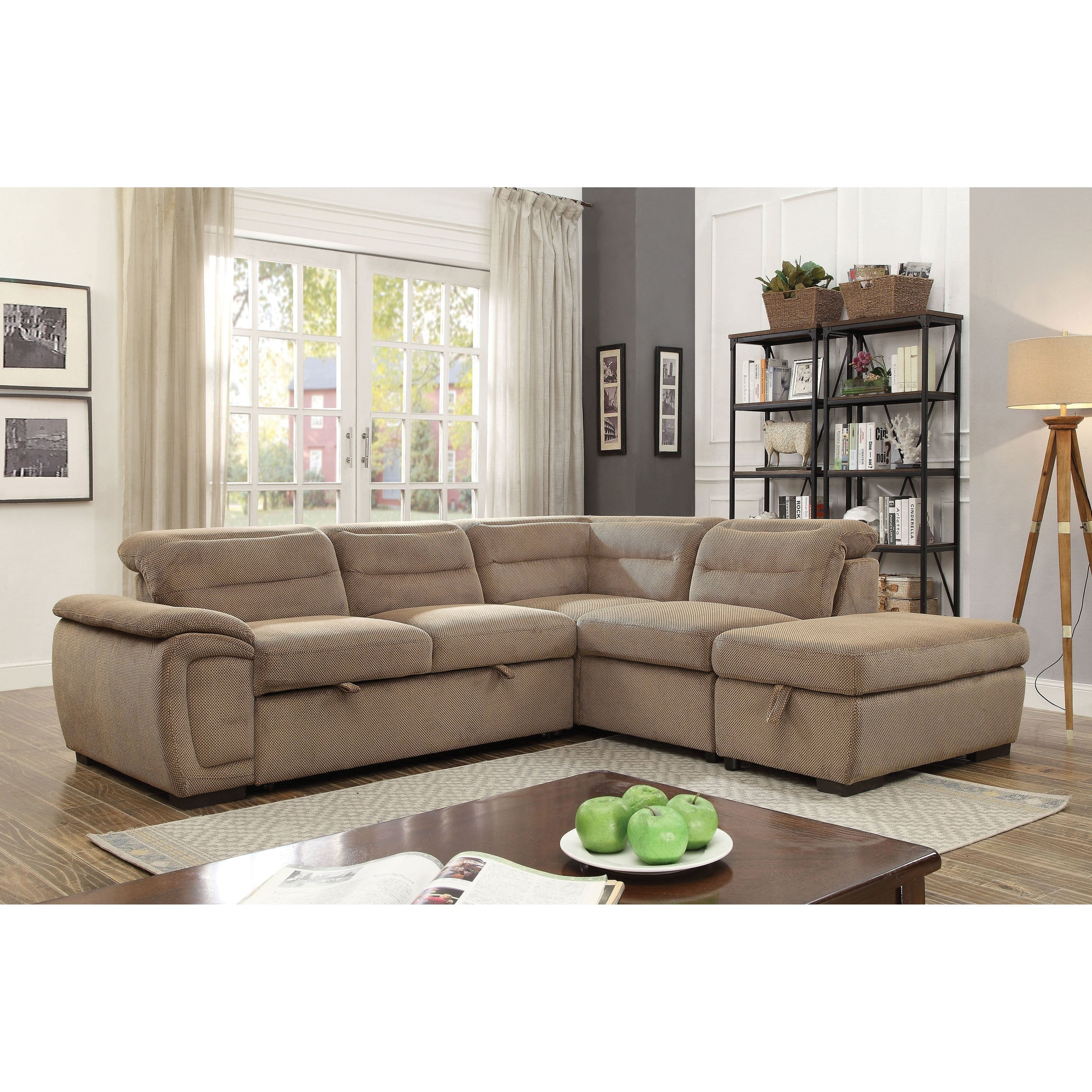 2 Piece Chenille Sleeper Sectional