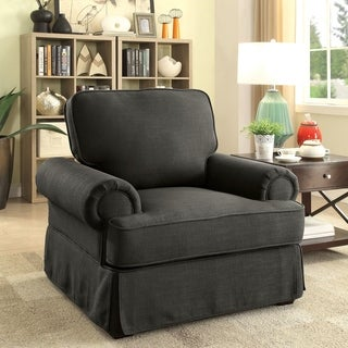 Furniture of America Eagleton Contemporary Pillow Top Skirted Accent Chair
