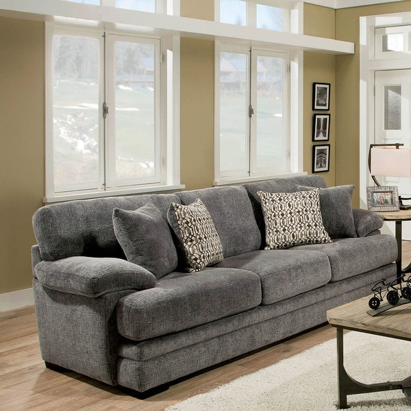 Furniture Of America Eloisa Transitional Pillow Top Plush Sofa