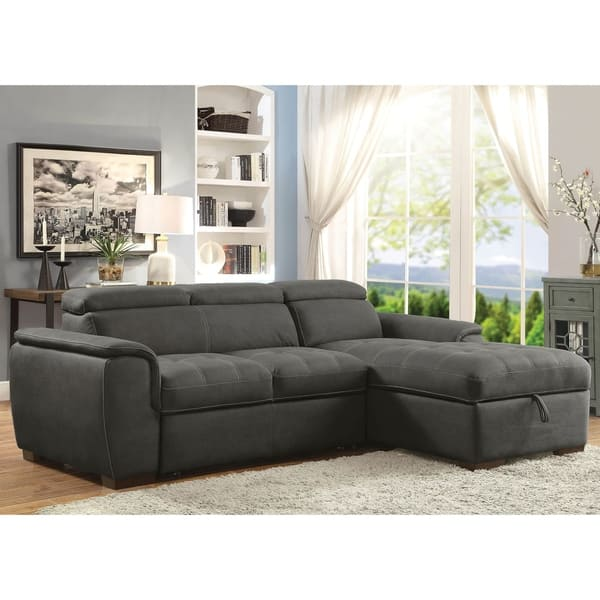 Miraculous Shop Fergus Contemporary Nubuck Leather Sleeper Sectional By Caraccident5 Cool Chair Designs And Ideas Caraccident5Info